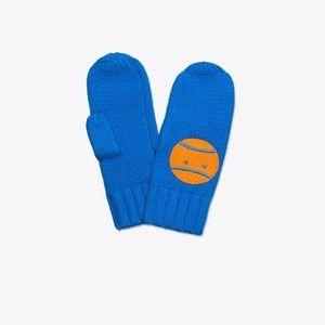 Tory Burch Sport Merino Little Grumps Mittens Blue